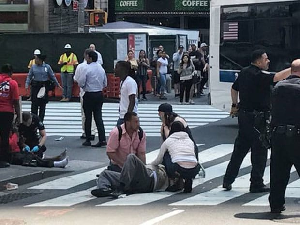 times square, times square accident