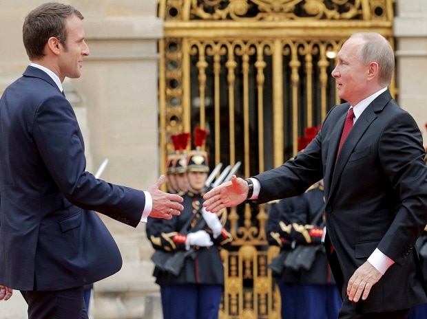 Emmanuel Macron Hosts Vladimir Putin In Latest Diplomatic Test Business Standard News