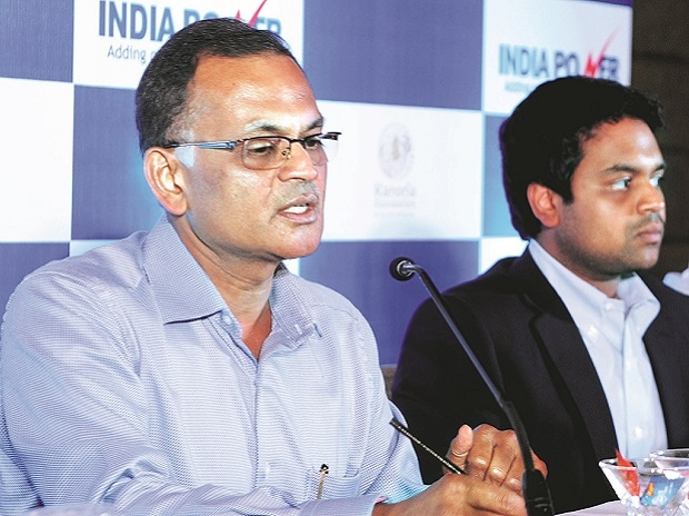 Hemant Kanoria (left), chairman, India Power, and Raghav Raj Kanoria, who will be taking charge as additional director as well as managing director from June 1, in Kolkata on Monday. Photo: Subrata Majumder