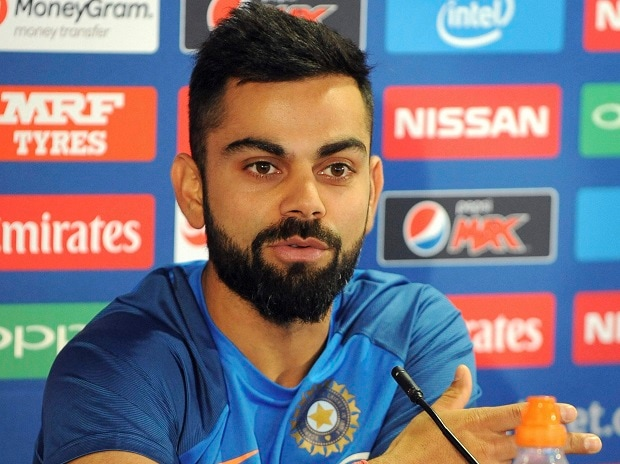 India captain Virat Kohli attends a press conference ahead of their ICC Champions Trophy Group B match against Pakistan at Edgbaston in Birmingham