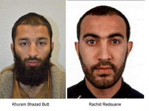 Scotland Yard reveals names of two terrorists behind London Bridge attack