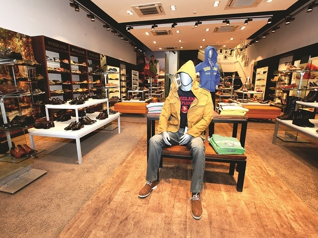 Woodland store, sports, sport shoes, mannequin