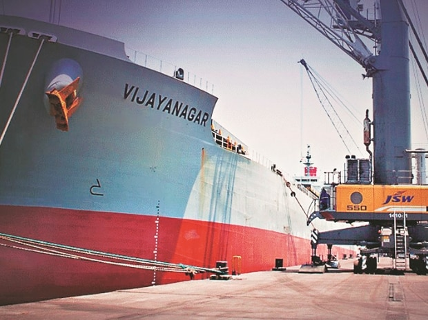South West Port (pictured) is JSW Infrastructure's first port operation. South West Port provides logistic support to the JSW Steel plant at Vijayanagar, Karnataka.	Photo: Company site