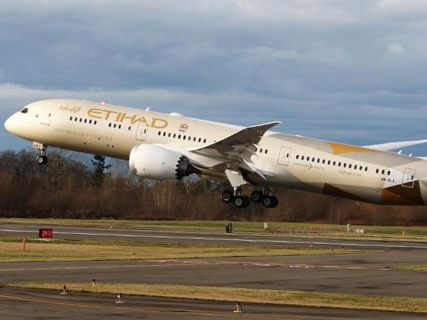 etihad, plane, flight