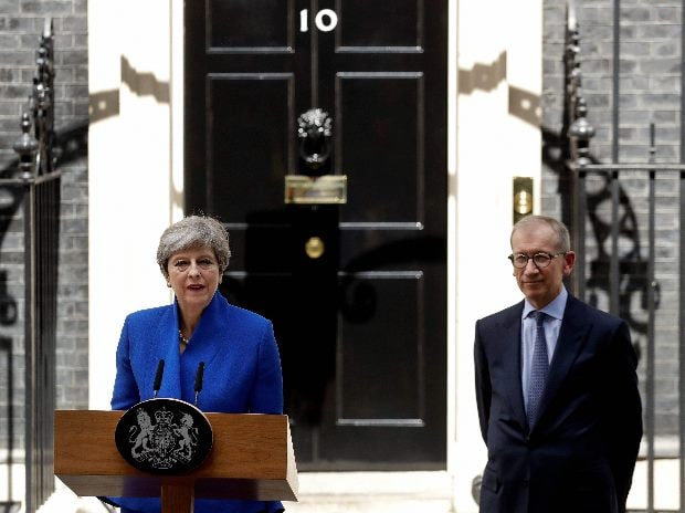 British Prime Minister Theresa May addresses the press in Downing street, London (Photo: AP/PTI)