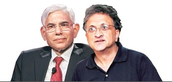 After Guha's resignation, many have questioned Vinod Rai's (left) ability to lead a cricket body despite his stellar record (2G and Coalgate)