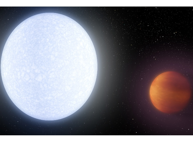 KELT-9B, hottest known planet. (Photo courtesy: NASA)