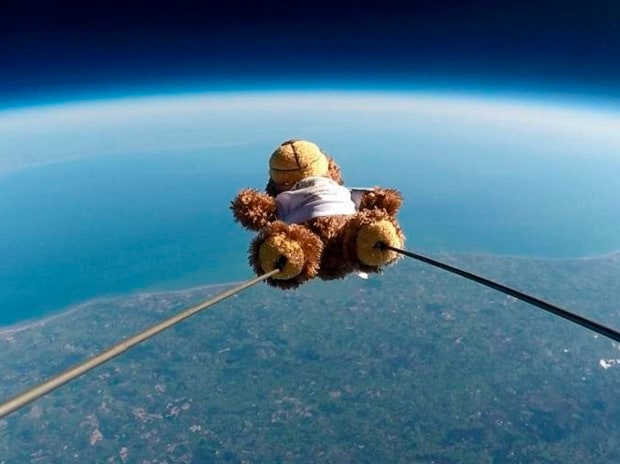 Teddy bear in Space