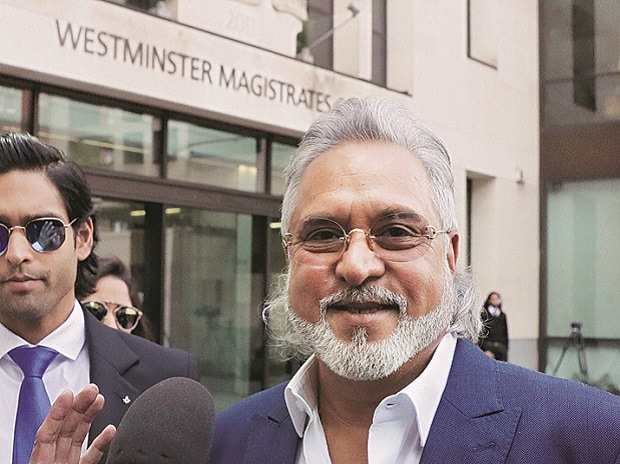 Vijay Mallya in London on Tuesday. Photo: AP/PTI