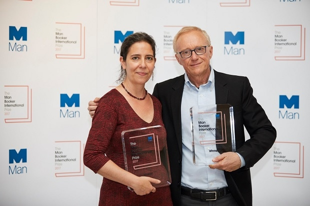 The Award has a prize of $64,000 that is split evenly between Grossman (Right) and his translator Jessica Cohen (Left). Photo: Twitter (@ManBookerPrize)