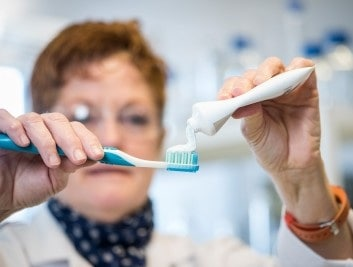 Biodegradable microbeads in toothpaste