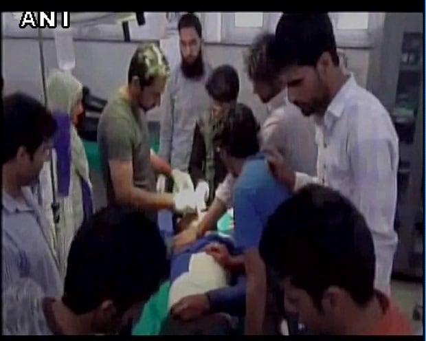 The dead body of the murdered policeman. Photo: ANI