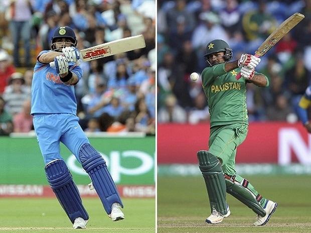 Virat Kohli and Sarfraz Ahmed