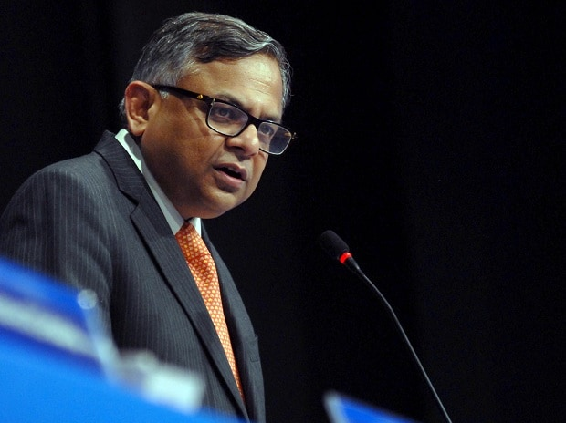 N Chandrasekaran, chairman, Tata Sons at the TCS AGM in Mumbai. (Photo: Kamlesh Pednekar)