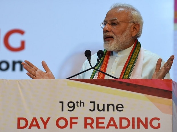 Narendra Modi, PM Modi, Modi, Reading Day-Reading Month celebrations, P N Panicker foundation, P N Panicker, Kochi, Kerala