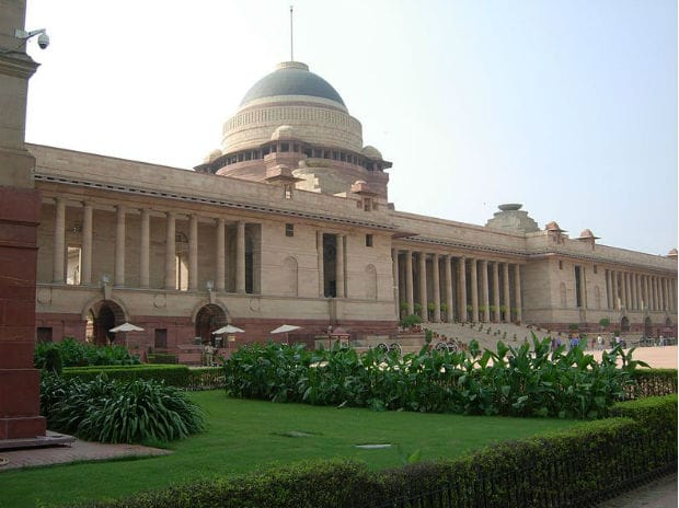 Rashtrapati Bhavan. Photo: Dhanushthonaparthi. Source: Wikipedia