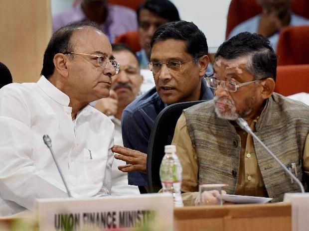 Arun Jaitley,Santosh Gangwar, Arvind Subramanian