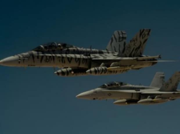 Two U.S. Marine Corps F-18 Super Hornets depart after receiving fuel from a 908th Expeditionary Air Refueling Squadron KC-10 Extender during a flight in support of Operation Inherent Resolve. (Photo: Reuters)