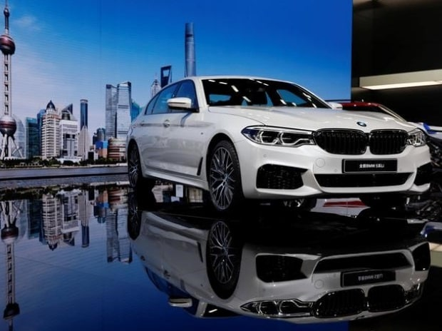 A BMW 5-Series Li car is displayed at the Shanghai Auto Show during its media day, in Shanghai, China. (Photo: Reuters)