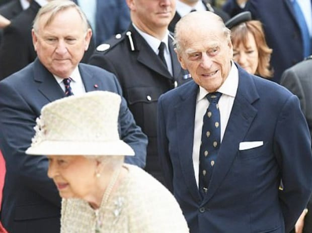 File Photo: Prince Phillip (R) with Queen Elizabeth II