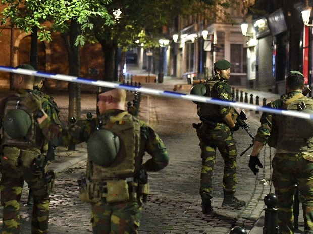 Brussels : Belgian Army soldiers patrol near Central Station in Brussels after a reported explosion on Tuesday, June 20, 2017.