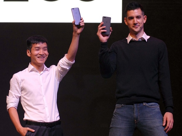 L to R - OnePlus Founder and CEO, Pete Lau and Kyle Kiang, Global Marketing Head, OnePlus during the launch of OnePlus 5 smartphone in Mumbai on 22nd June, 2017   Photo: KAMLESH PEDNEKAR