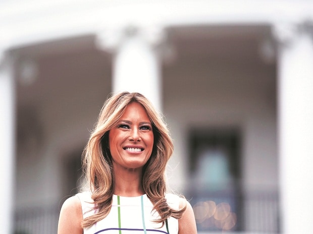 Even the US President has described  Melania Trump (pictured), a 47-year-old former model and native of Slovenia, as more happy at home than working the social scene