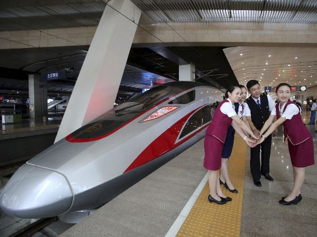 China S Fastest Fuxing Bullet Train Debuts On Beijing