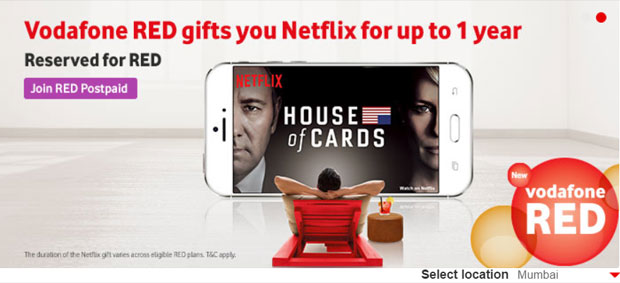 Vodafone offers free Netflix for a year: Here is how to