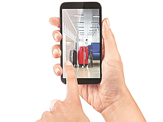 There are GPS trackers that work with a cell phone to pinpoint your luggage's location or to notify you if it has left your side