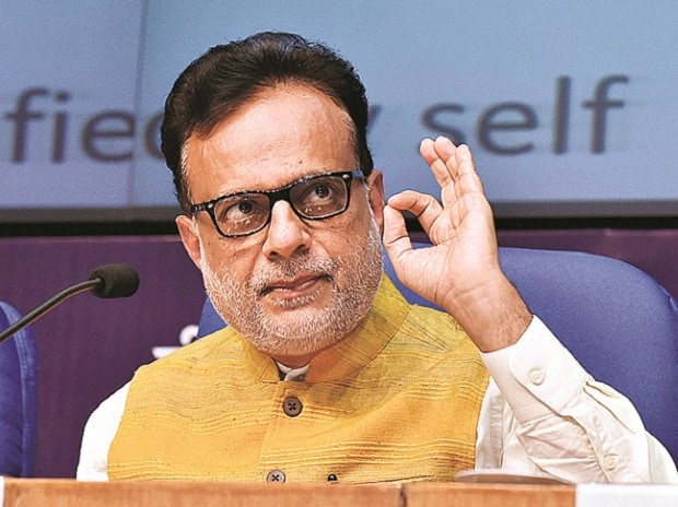 Revenue Secretary Hasmukh Adhia in New Delhi on Thursday. Photo: PTI