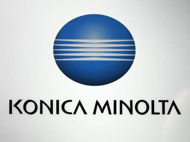 A logo of Konica Minolta is pictured at a trade show for Japan's manufacturing industry in Tokyo (Photo: Reuters)