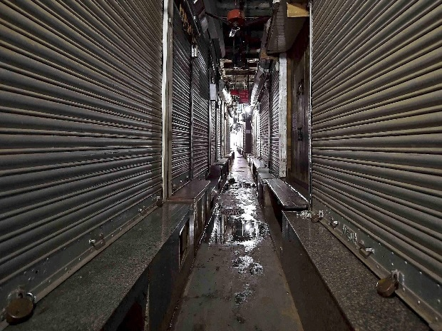 As communal clashes started, shops and market areas got affected initially. Photo - PTI