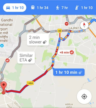 Delhi traffic, Delhi traffic congestion, south delhi traffic, Delhi traffic news, google map, google delhi traffic, delhi ncr, gurgaon traffic, air pollution