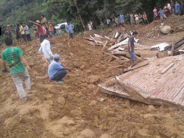 Landslide in Papumpare district of Arunachal Pradesh.