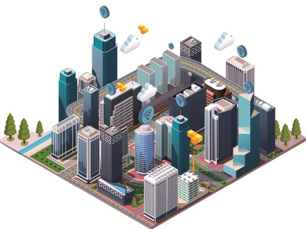 Generic illustration for smart city