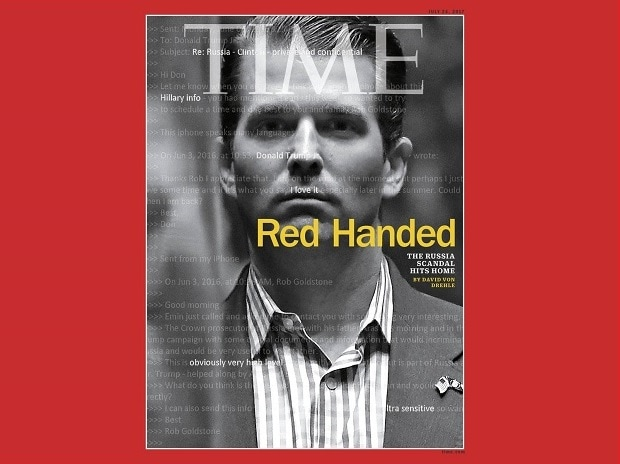 Time cover featuring Donald Trump Jr. Photo: Twitter