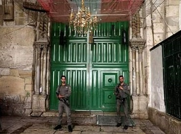 The Al aqsa mosque was closed after the attack, Photo:Twitter