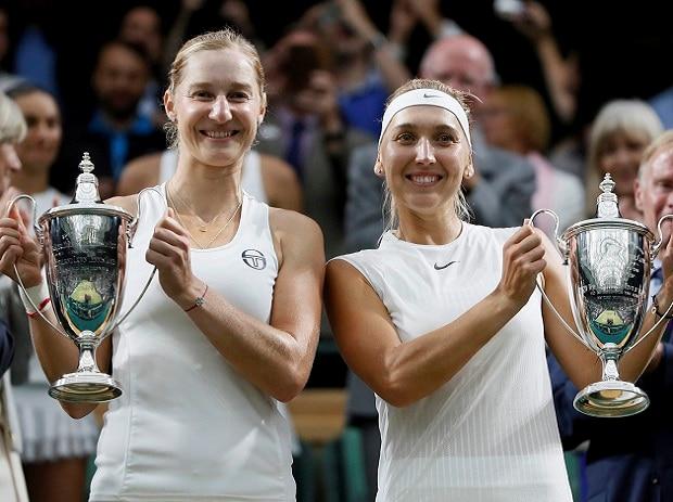 Russia's Vesina-Makarova win women's doubles title in Wimbledon