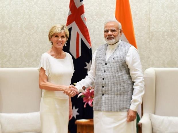Narendra Modi, Australia, Julie Bishop, Australian Foreign Minister