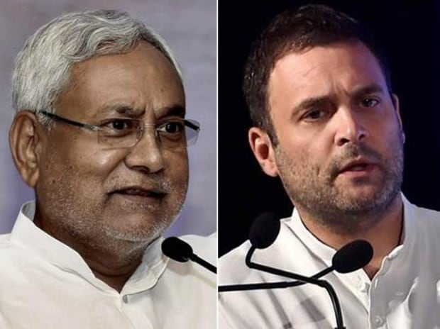 Nitish Kumar and Rahul Gandhi