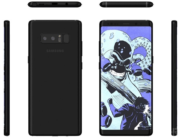Galaxy Note 8 render Photo: BGR