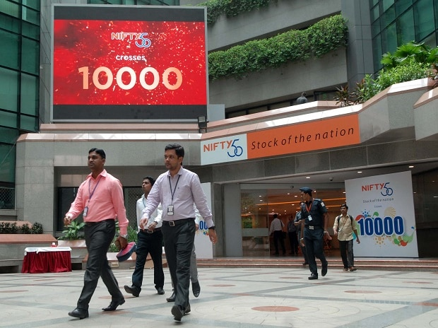 Nifty crosses 10,000 mark in early trade at NSE in Mumbai on Tuesday 25th July 2017   Photo: Kamlesh Pednekar
