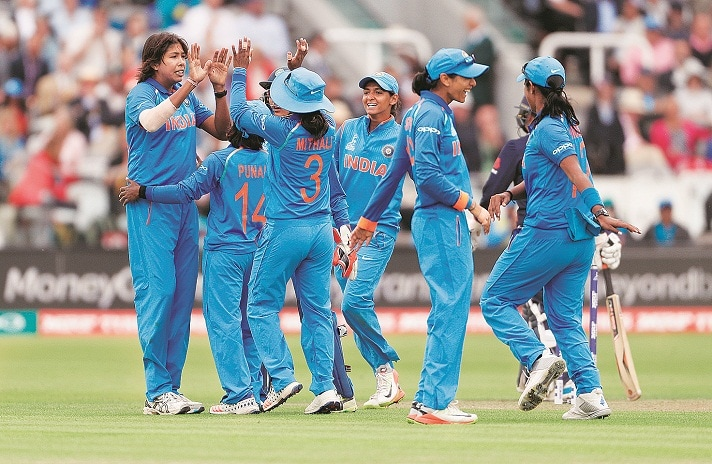 File picture of the Indian team celebrating after taking a wicket during a World Cup match against EnglandPhoto: Reuters