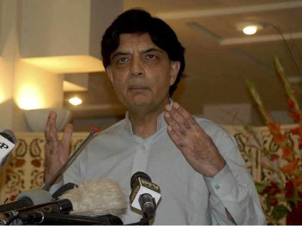 Islamabad : Pakistani Interior Minister Chaudhry Nisar Ali Khan addresses a news conference in Islamabad, Pakistan, Thursday, July 27, 2017. Photo: AP/PTI