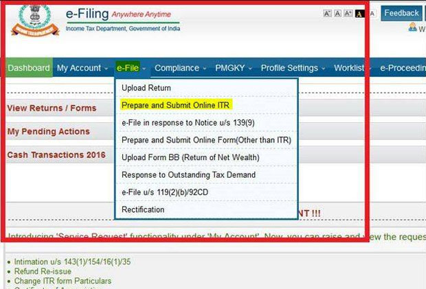 Today is the last day for filing income tax returns here is how last day for filing tax returns step by step guide on how to do it ccuart Image collections