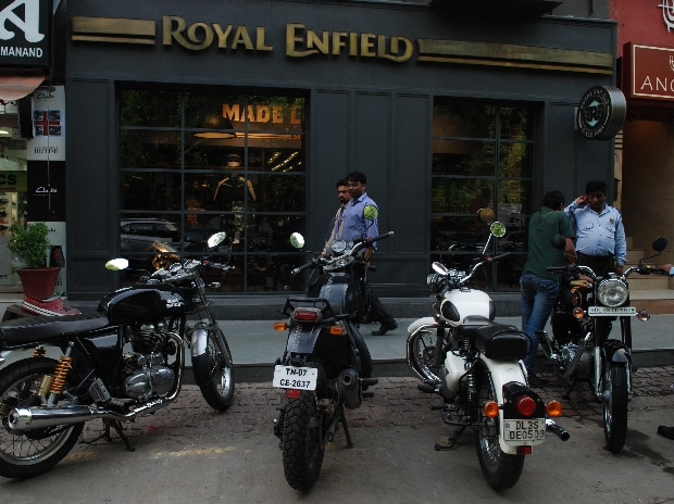 File photo of Royal Enfield showroom.