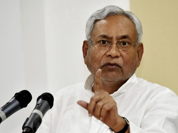Bihar Chief Minister Nitish Kumar addressing a press conference in Patna. (Photo: PTI)