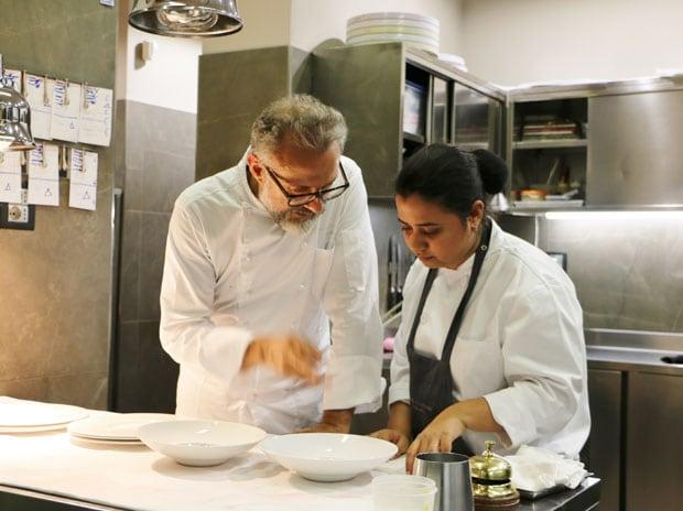 Akanksha Dean with Chef Massimo Bottura