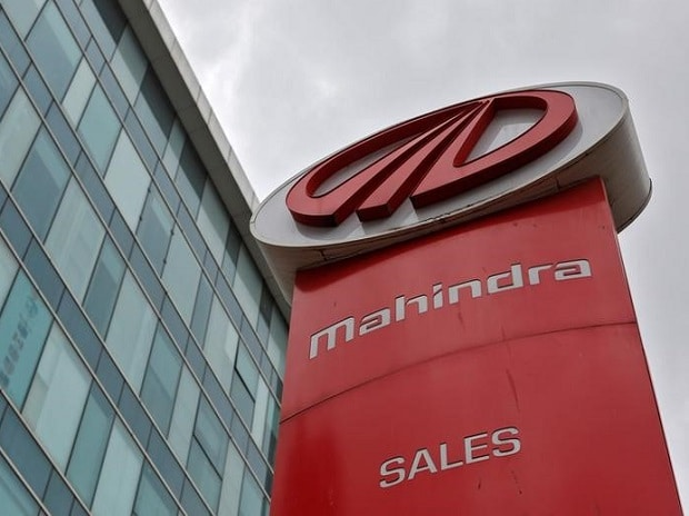 The logo of Mahindra and Mahindra is seen at a showroom in Mumbai. (Photo: Reuters)